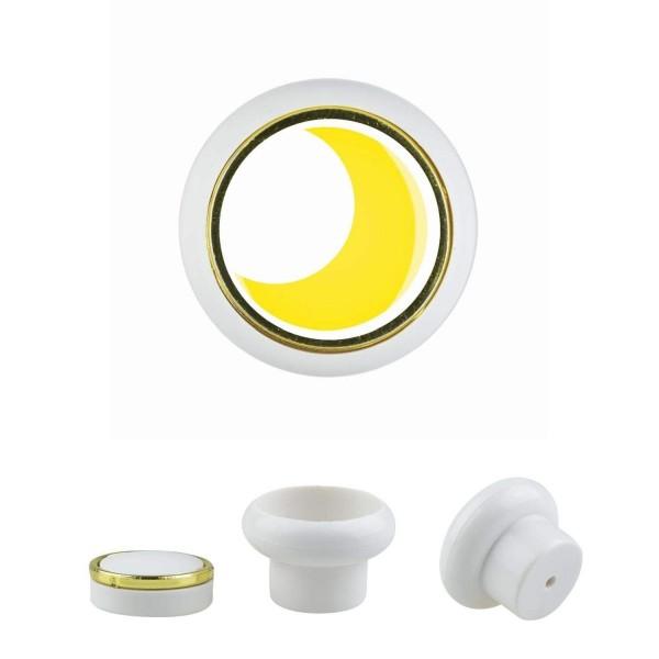 Kunststoff Möbelknopf Klein 018 Bestseller Mond gelb 018w
