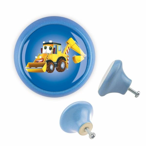 Möbelknopf 040 Bestseller MKSP004 03439B Bagger Blau