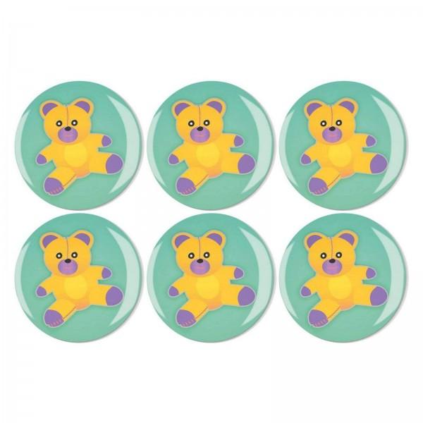 Magnete Set 002 Bestseller 6er Set Teddy Bär 4 cm 002