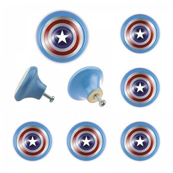 Möbelknopf Set 008 Bestseller 6er Set Captain America 008