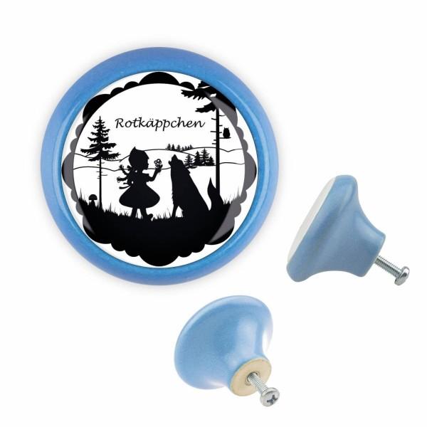Möbelknopf 035 Bestseller MKSP004 03288B Märchen Blau