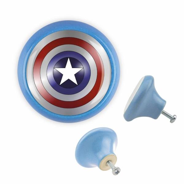 Möbelknopf 014 Bestseller MKSP003 03344B Captain America Blau