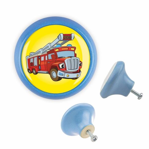 Möbelknopf 045 Bestseller MKSP004 03444B Feuerwehr Auto Blau