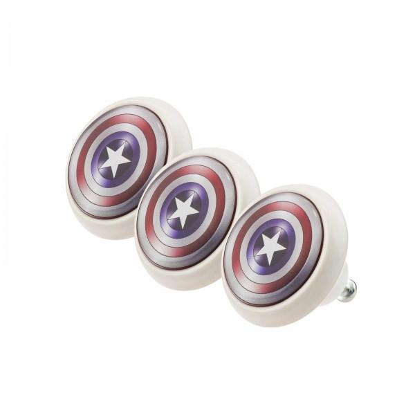 Möbelknopf Set 018 Bestseller 3er Set Captain America 018