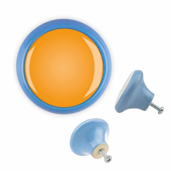 Möbelknopf 146 Bestseller MKSP209 06342B Blau Farbe Orange