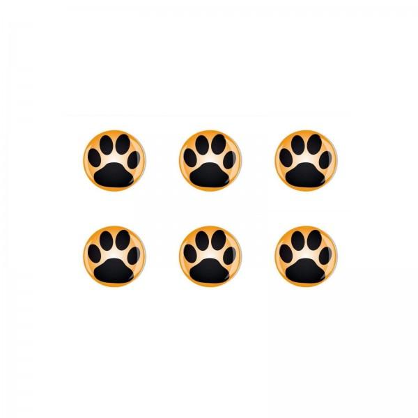Magnete Set 001 Bestseller 6er Set Hunde Pfoten 2cm 001