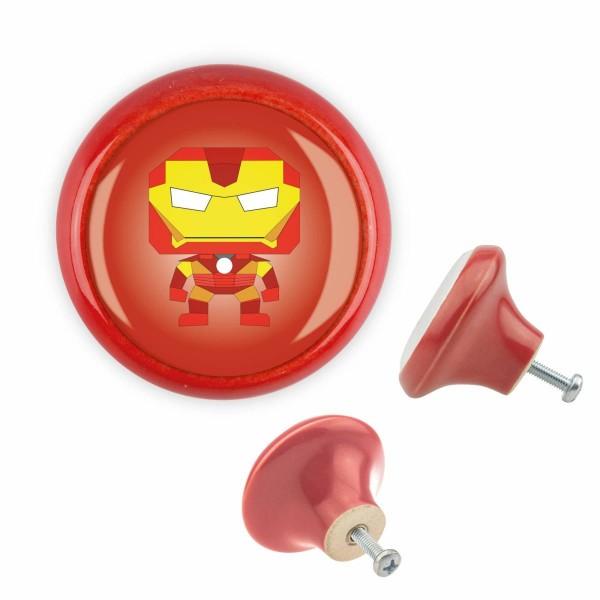 Möbelknopf 018 Bestseller MKSP003 03461R Superheld Rot