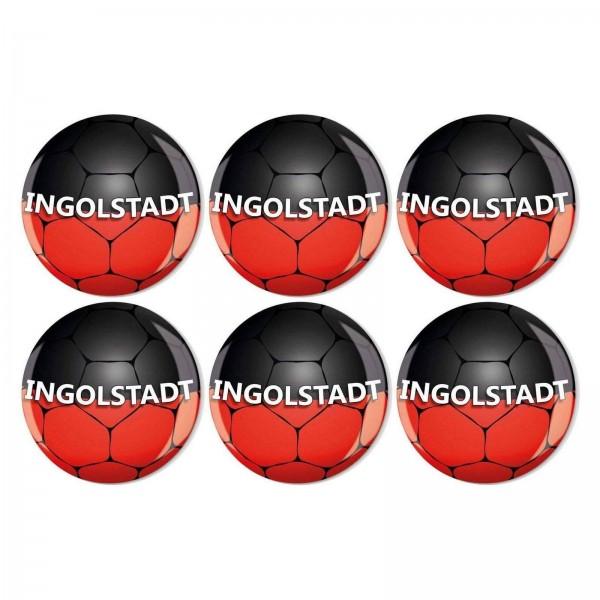 Magnete Set 005 Bestseller 6er Set Fussball Ingolstadt 4cm 005