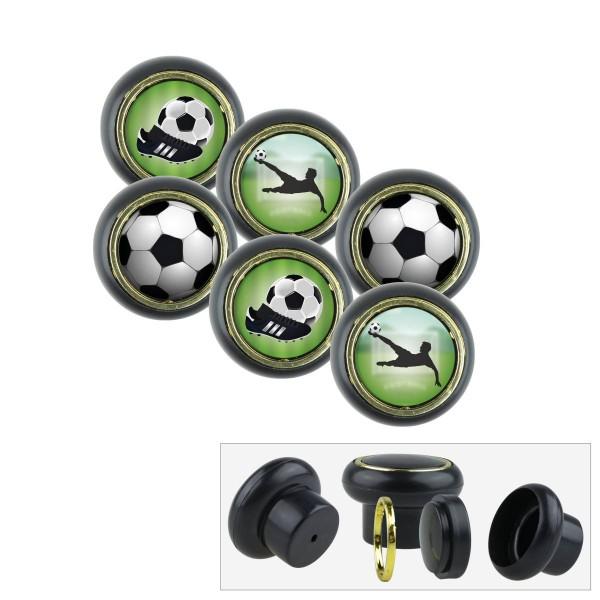 Kunststoff Möbelknopf Set 016SP Fußball 6er