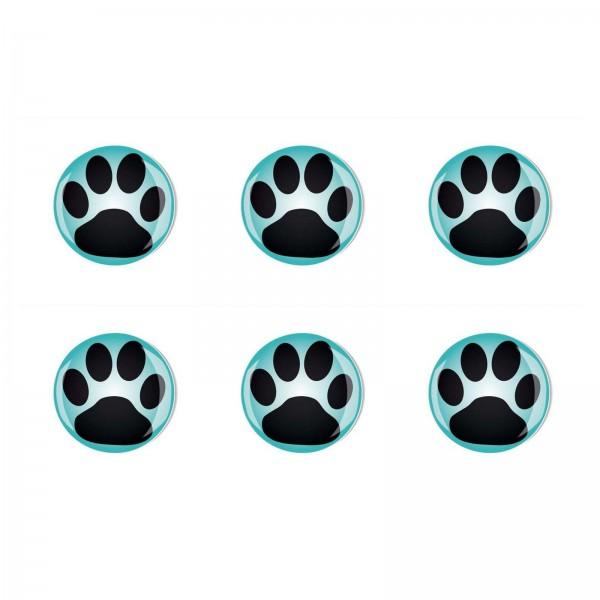 Magnete Set 007 Bestseller 6er Set Hunde Pfoten 4cm 007